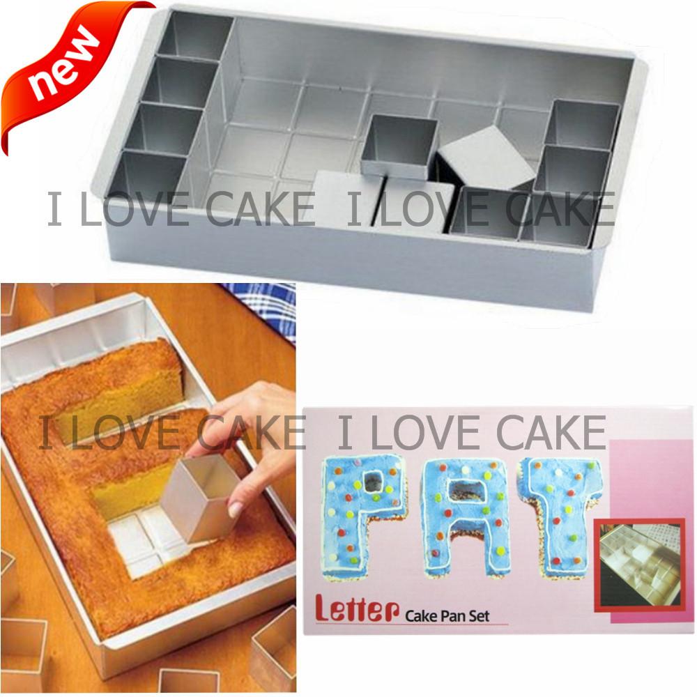 Kitchen Shears In Baking: Letter Number Cake Pan Set Cake Decorating Tools Kitchen