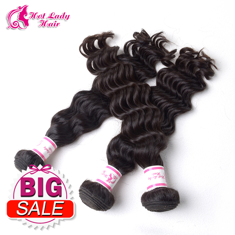 HL Hair Peruvian Virgin Hair Deep Wave 3 Bundles 5a Unprocessed Virgin Peruvian 100% Human Hair Tangle Free Hair Extension(China (Mainland))