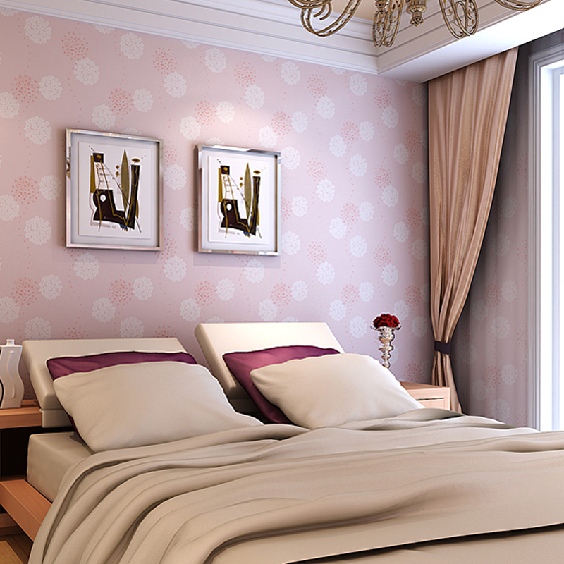 Girls Bedroom Embossed Wallpaper Pink Background Wall Papers PVC Classic Flower Wallcovering Peony - Emmy Home Decoration Store Online store