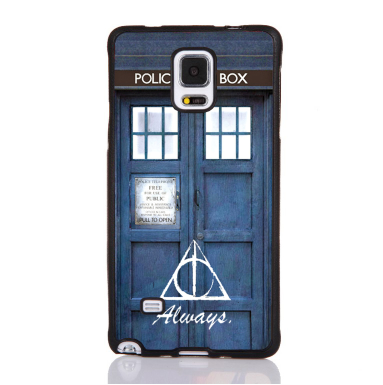 The Deathly Hollows Dr Who Tardis Soft Rubber Mobile Phone Cases For Samsung S4 S5 S6 S7edge Note 3 Note 4 Note 5 Cover Shell(China (Mainland))
