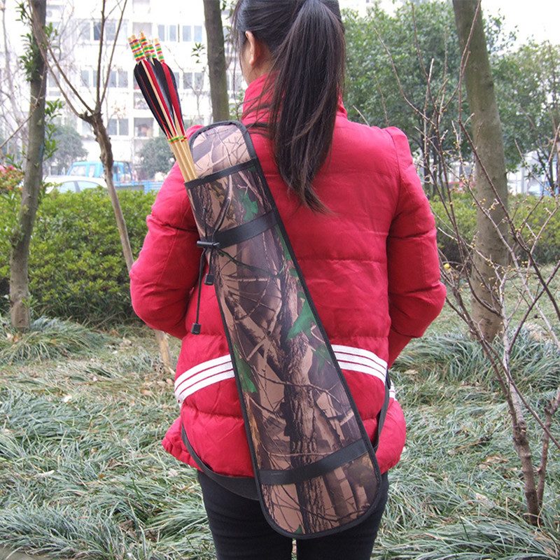 Outdoor Camouflage Three Fixed Strap Messenger Archery Equipment Simple Bow And Arrow Pot Quiver Capsule