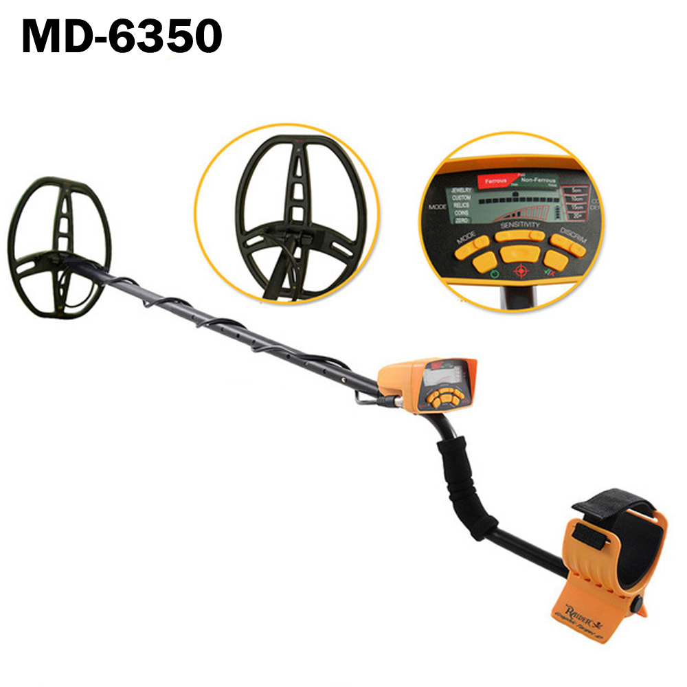 Professional Underground Search Metal Detector with 5 detection modes  MD-6350 Gold Metal Detector Digger Hunter