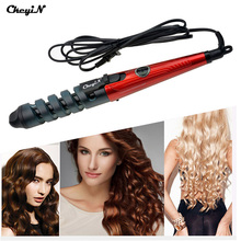 Pro Hair Curler Electric Ceramic Hair Curler Spiral Hair Rollers Curling Iron Wand Salon Hair Styling Tools Styler HS10-V31(China (Mainland))