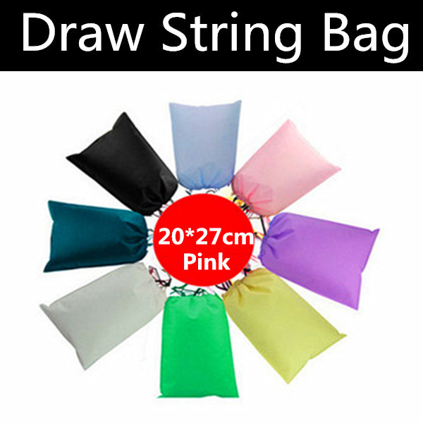 500pcs 20*27cm Pink Non-woven Draw String Bag, Viscose Fiber Clothes Bag, Non-woven Shopping Bag, Free Shipping By FedEx(China (Mainland))