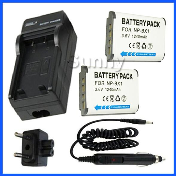 Battery 2-Pack + Charger for Sony HDR MV1, AS10, HDR-AS15, HDR AS30V, HDR-AS30V/B, AS100V, HDR-AS100VR POV Action Video Camera(China (Mainland))