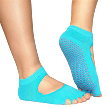 Durable 2015 Hot!!! Fashion 1 Pair Backless Home Female/Male Sports Cotton Sport Non-slip Yoga Socks Fast Shipping(China (Mainland))