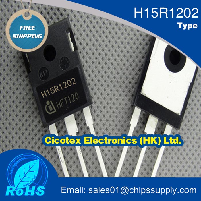 Electronic components Igbt H15R1202 15a 1200v electromagnetic furnace igbt tube(China (Mainland))