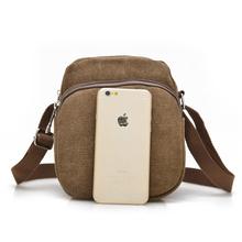 2016 Men Women Shoulder Bag Canvas Small Pocket Money Bag High Quality Material Messenger Outdoor Hiking