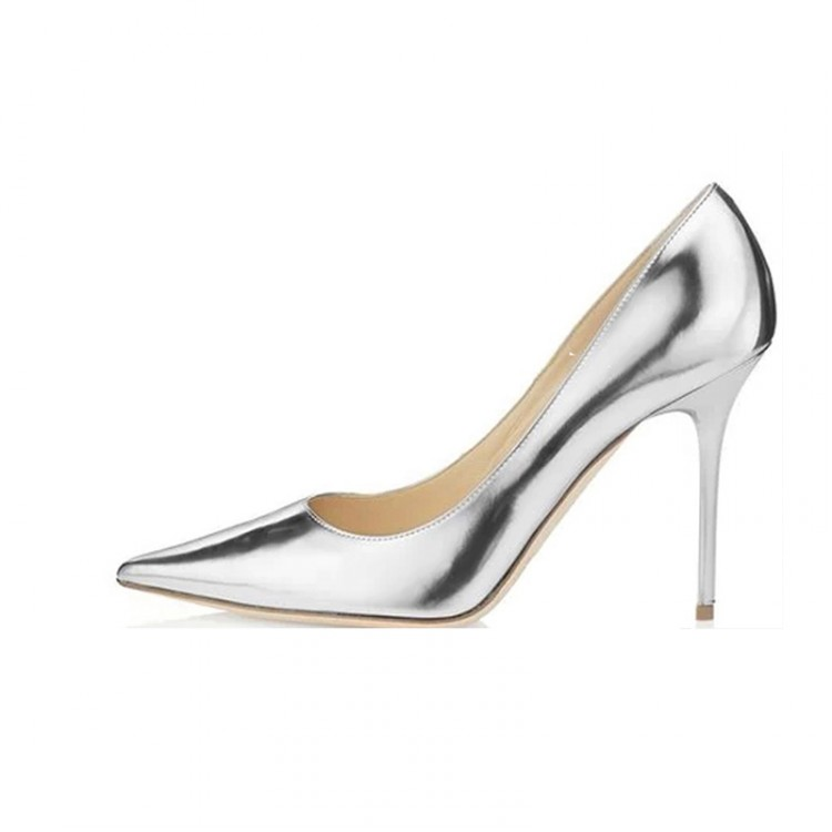 2016 spring Autumn New fashion ultra high heels Women Shoes Pumps pointed toe shoes Silver Patent Sexy party lady Free Shipping<br><br>Aliexpress