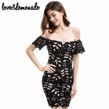 Buy Love&Lemonade Sexy Strapless Black Lace Party Dress TB 9261 for $33.99 in AliExpress store