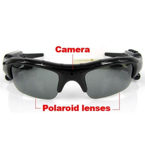 Bluetooth Headset Sunglasses + 8GB Memory card + DV DVR Video Camera + MP3 Player high resolution 200w Mini Camcorders Recorder