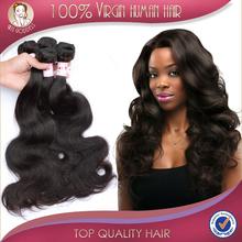 Grade 7A Peruvian Virgin Hair Body Wave 3 Pcs Lot 100% Unprocessed 4 Bundles Peruvian Ombre Natural Black  Human Hair Weave(China (Mainland))