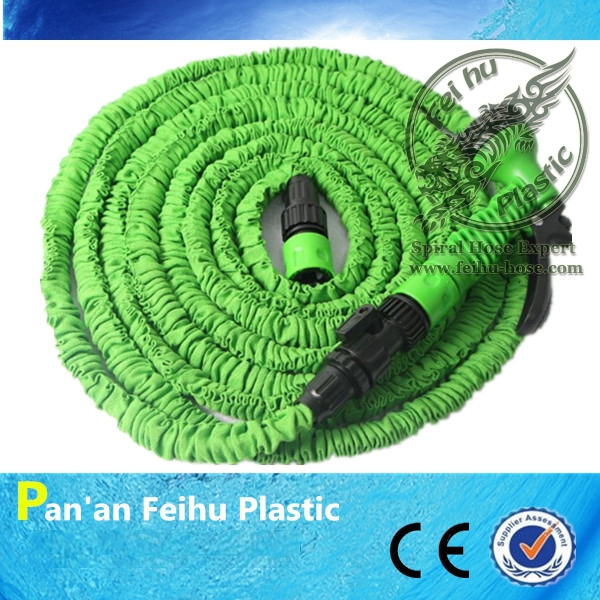 Eco-friendly Practical Present Expandable Magic Garden Hose 25ft to Watering with CE&SGS Approved+spray gun(China (Mainland))