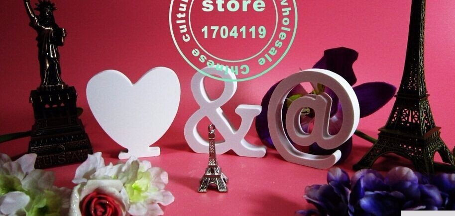 1pcs 15cm Christmas decoration Christmas Carved White letter Home decoration Birthday present and wedding presents A_Z AND  0_9