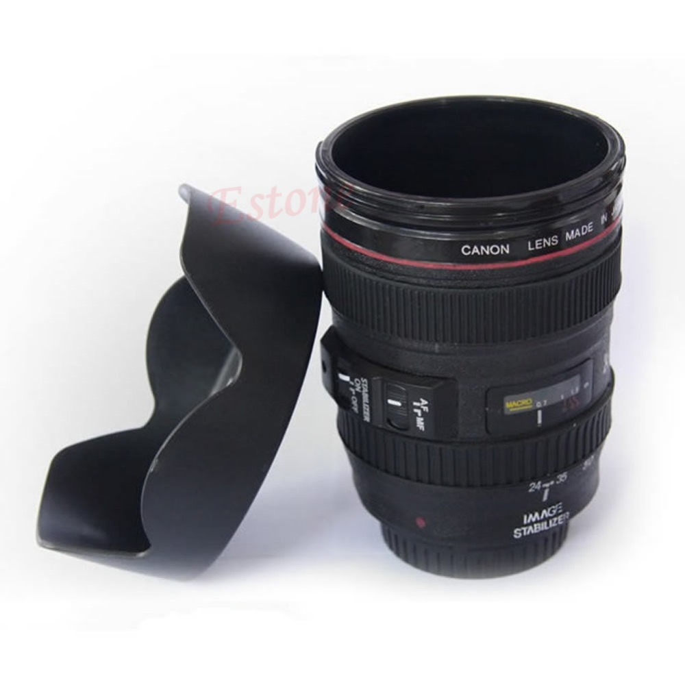 A96 Free Shipping Camera Lens Thermos Mug Tea Water Liner Travel Thermal Coffee Cup EF 24