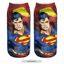 New 3D Printed Superman Women Socks Cute Low Cut Ankle Sock Multiple Colors Fashion Style CNW25