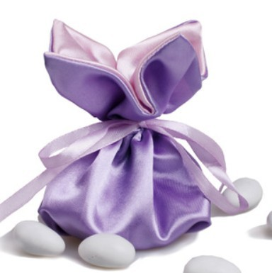 New! Free shipping 150 pcs / lot Lucky Clover gift bags ,Wedding candy bags ,Brocade fabric candy bag, JMTH-06 Purple(China (Mainland))
