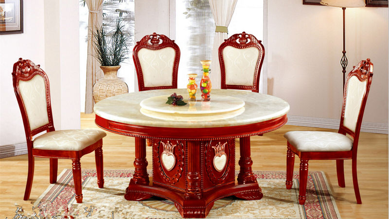 High-grade solid wood dining table of high-grade marble table selected package mail delivery to the port(China (Mainland))
