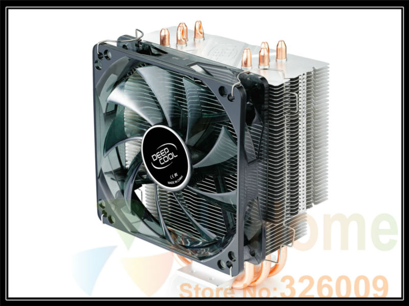 Tower side-blown,4 heat pipe,LED ight 12CM FAN LGA775/1155/1156,AMD X4 DEEPCOOL xuanbing400 , CPU Cooler,cpu cooler cpu cooling<br><br>Aliexpress