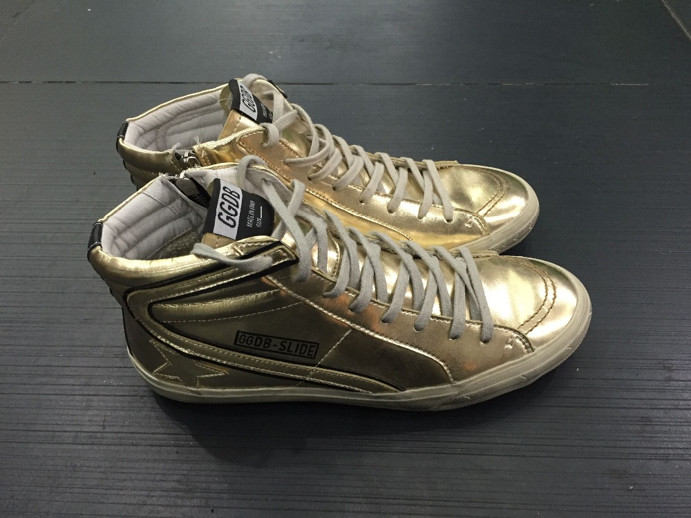 Spring/Autumn Golden goose shoes lace up high top ggdb shoes Full Grain Leather womens mens casual shoes<br><br>Aliexpress