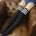 2017 Women s Socks New South Korea Long Cotton Sexy Over the Knee Sock Simple Stripe
