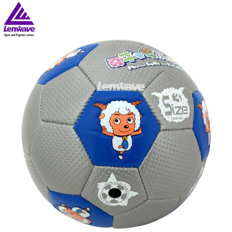 2016 New Children's Size 3 PU Football Ball Plesant Goat and Big Big Wolf Kids Sports Training Soccer Ball(China (Mainland))