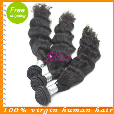 purehair 5A hair products 100%  indian remy natural wave hair original unprocessed hair 3 pcs lot