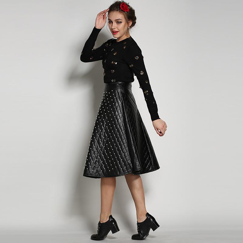 Long leather skirt – Modern skirts blog for you
