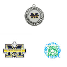 Buy Skyrim 10pcs NCAA Sporty University Michigan Wolverines Zinc Alloy Rhodium Plated Enamel Charms Pendants for $12.16 in AliExpress store