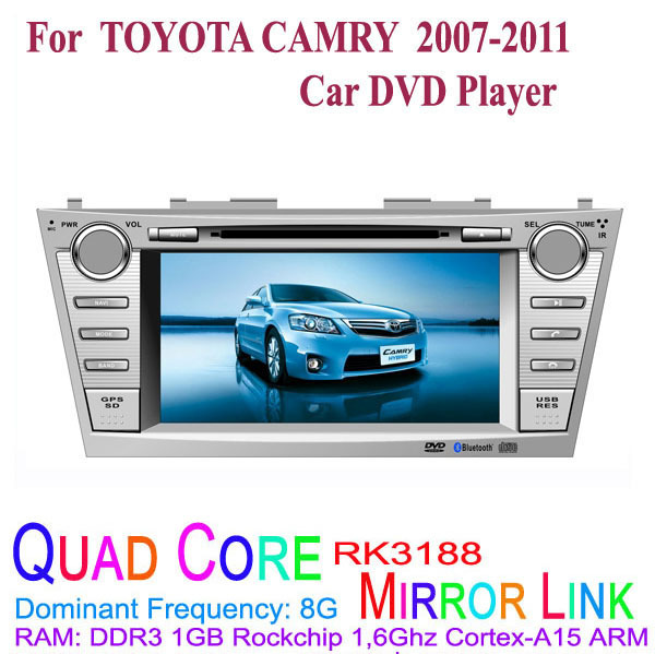 1024*600 Quad Core Android 4.4.4 Fit TOYOTA CAMRY 2007 2008 2009 2010 2011 Car DVD Player GPS 3G Radio(China (Mainland))