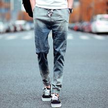 Mens Skinny jeans 2016 slim male jeans denim Biker jeans hiphop pants gradient color jeans for man(China (Mainland))