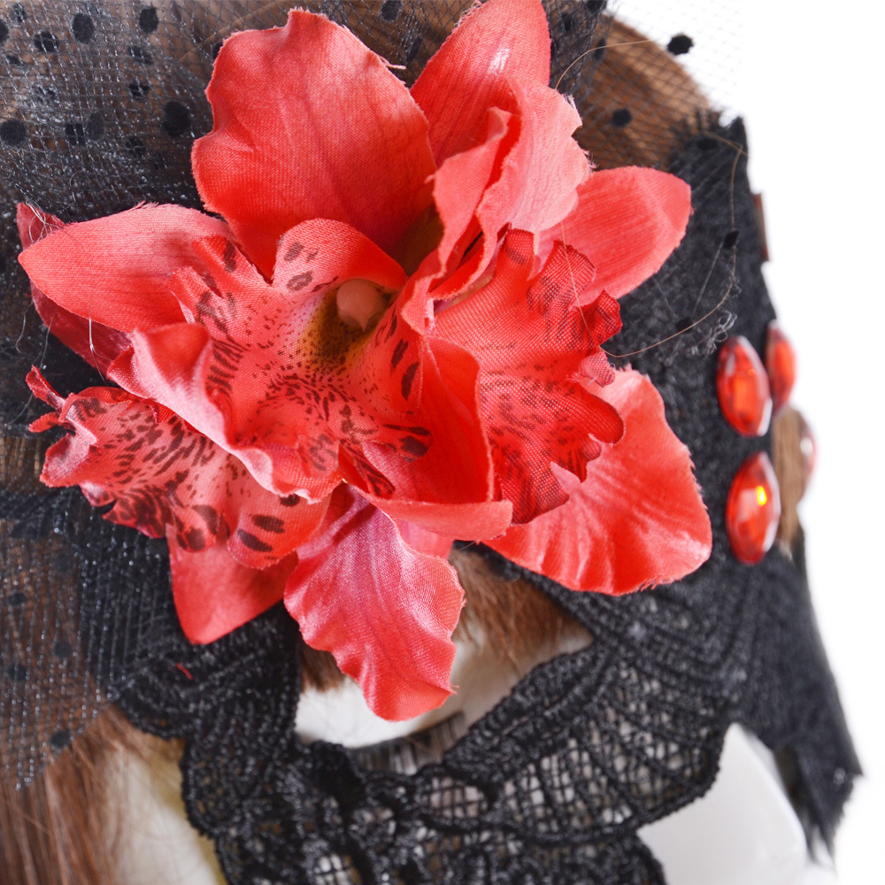 Sexy fashion party fun mask carnival dance club in Europe and America new lace large flowers goggles accessories free shipping(China (Mainland))