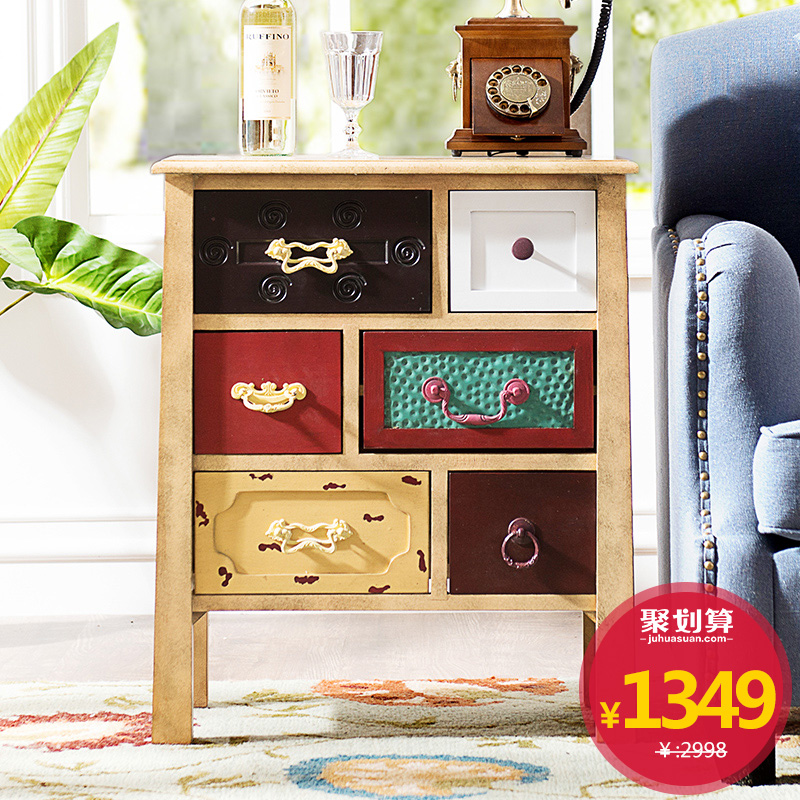 Brand Group European Retro Furniture Odd Ranks Yield More Color Seattle Bedroom Nightstand