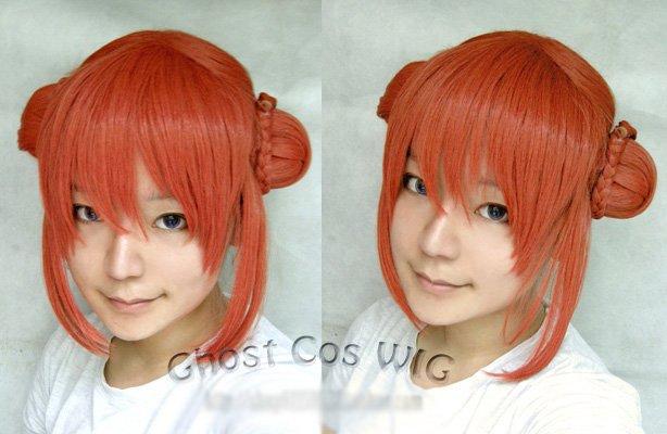 Gintama kagura  orange specialize Cosplay wig<br><br>Aliexpress