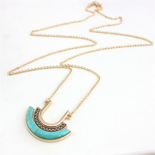 New Exquisite Turquoise Necklace Fashion Charm Brand Jewelry Necklace For Women Dress Accessories