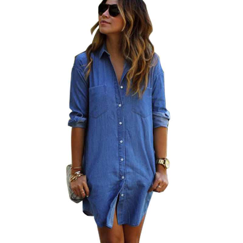 Popular Denim A Line Dress - Oasis Amor Fashion