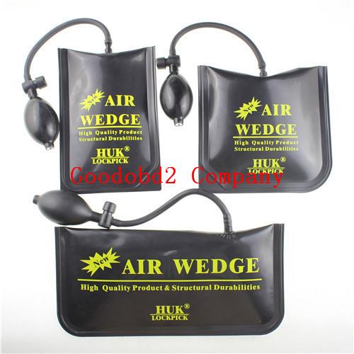 2015 Hot selling HUK PUMP WEDGE LOCKSMITH TOOLS Auto Air Wedge Lock Pick Open Car Door Lock 3 PCS air bag(China (Mainland))