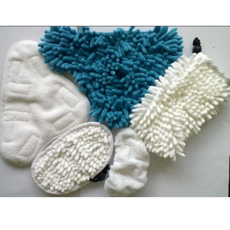 5pcs/kit set Chenille Corals Microfibre Steam Cleaner cloth Mop Microfibre Washable Replacement Pads for H2O X5 H20(China (Mainland))
