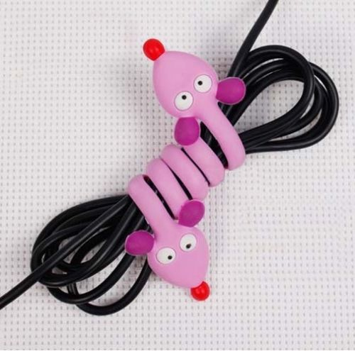 Cute Cartoon Earphone Headphone Wrap Cord Wire Cable Holder Winder Organizer(China (Mainland))