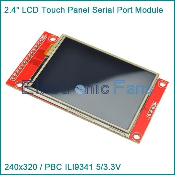 "Гаджет  240x320 2.4"" SPI TFT LCD Touch Panel Serial Port Module with PBC ILI9341 5/3.3V None Электронные компоненты и материалы"