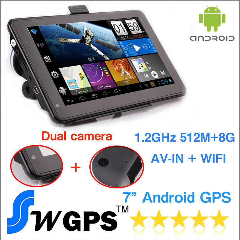buy 7 inch capacitive android gps navigation android navigator vehicle gps wifi. Black Bedroom Furniture Sets. Home Design Ideas