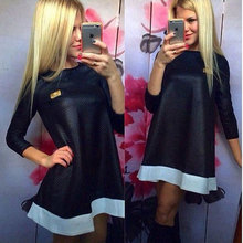 Plus Size New Nice Spring Women Casual Dress Retro Preppy Fashion Loose One-Piece Dresses Brand Summer Women Clothing S M L XL