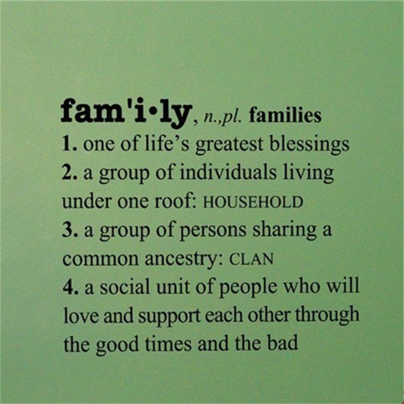 definition of terms about broken family A bilateral descent based kin naming system in which members of the nuclear family are given terms of reference based only on their gender and generation aunts (3.
