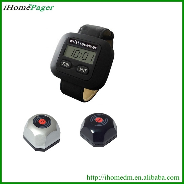 5PCS service buzzer 1 pcs watch receiver Waiter Paging System