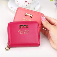 Women\'s Leather Small Wallet Card Holder Zip Coin Purse Clutch Handbag New(China (Mainland))