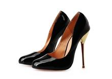 14cm sexy big yards metal heel round toe female high heels-8.5-15.5(China (Mainland))