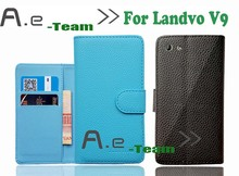 Aierwill-100% New Protective PU Leather Case Landvo V9 Wallet Card Slot Cover phone case - AE-Team Trade co., LTD. store
