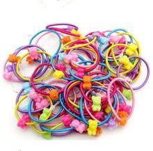 TS 50pcs mini top hat headband Korean children's cartoon candy -colored rubber band hair accessories hair ring headwear headband