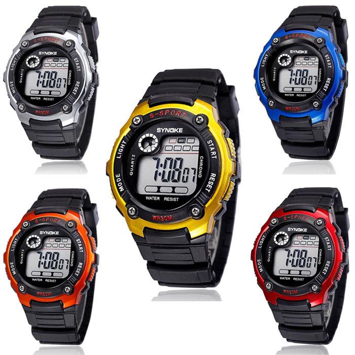 2015 Multifunction Outdoor Men Boy Digital LED Waterproof Alarm Date Sports Wrist Watch Freeshipping & Wholesale(China (Mainland))