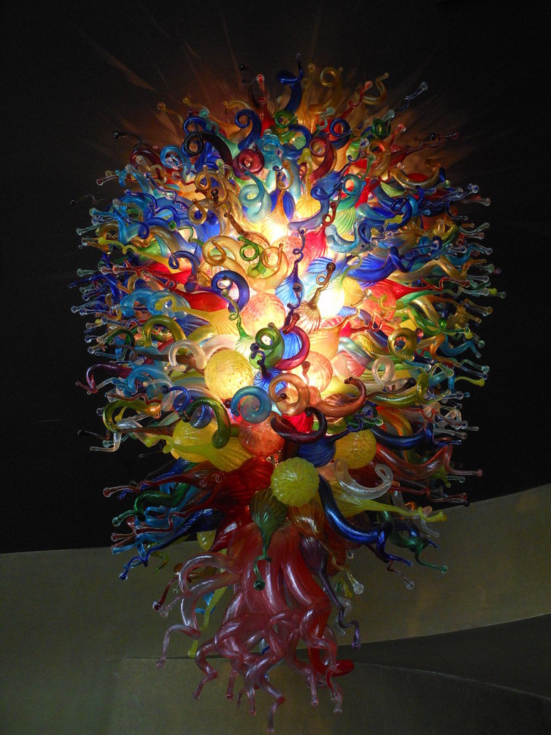 Free Shipping Chihuly Style Multi Colored Murano Glass Chandelier Lighting(China (Mainland))
